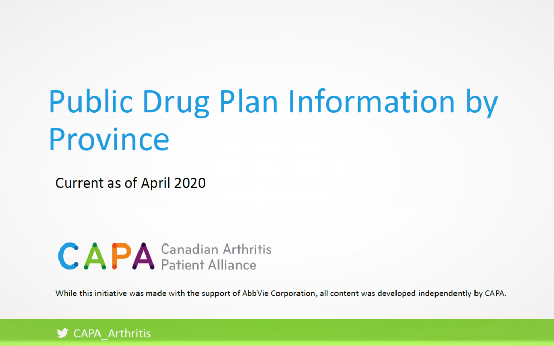 Public Drug Plan Information by Province
