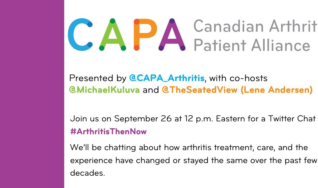 "CAPA ""Then and Now"" Twitter Chat on September 26, 2020 at 12 pm ET"