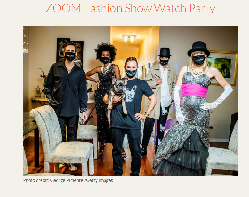 Join us for Michael Kuluva's ZOOM Fashion Show and Watch Party on September 16, 2020 at 7:30 PM ET