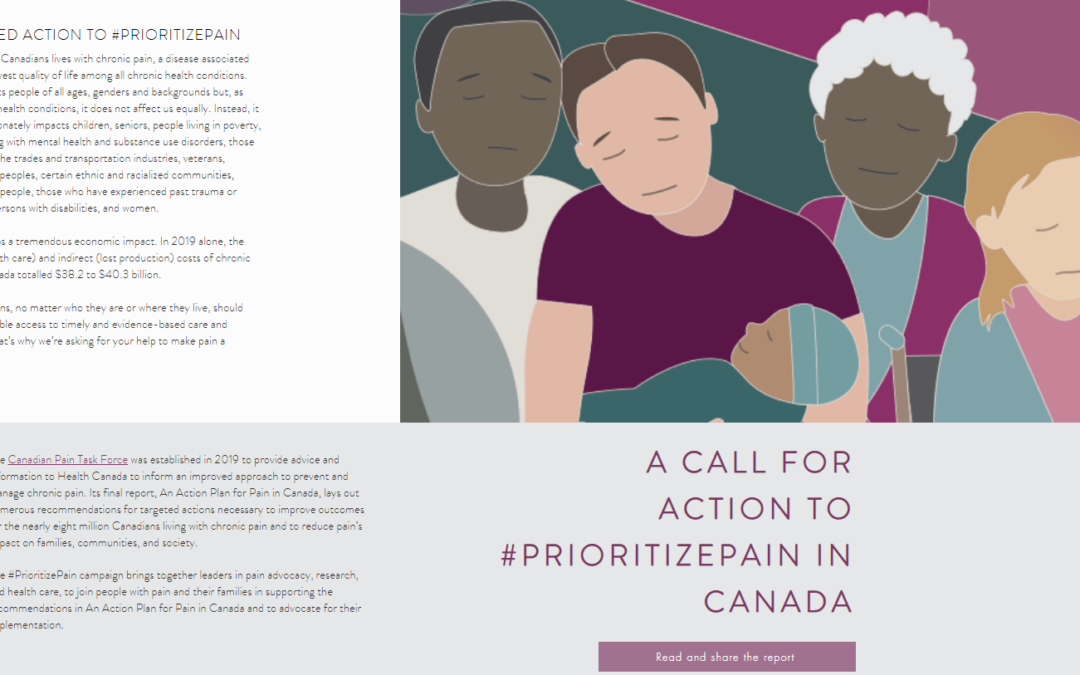 A Call for Action to #PrioritizePain #PrioriteDouleur in Canada