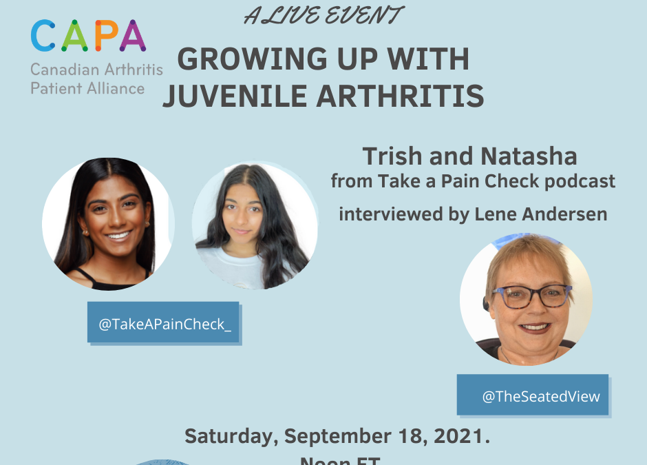 Growing Up with Juvenile Arthritis-A Live Event!